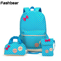 3PCs For 5 12T Schoolbag For Teenage Girls Printing Elementary School Backpack For Girls In Grade