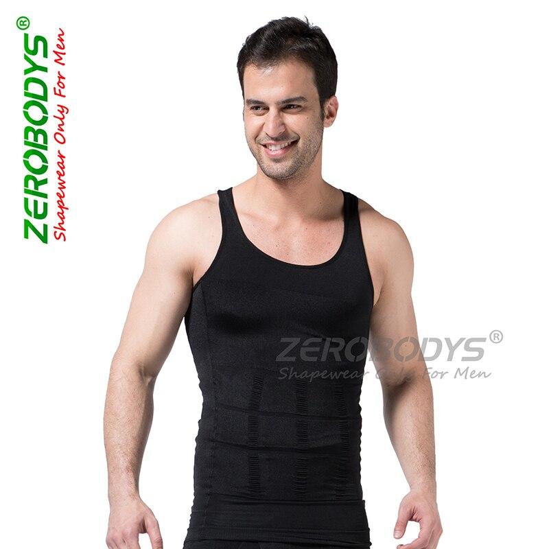 Men Shaper Vest Body Slimming Abdominal Curl Bodybuilding Underwear Cotton Tops Corset Men Shaper Five Colors