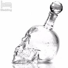 Кристальная дропшиппинг бутылка для водки бутылки в виде черепа креативный Готический винный графин для водки 125 мл 350 мл 550 мл 1000 мл 4 размера
