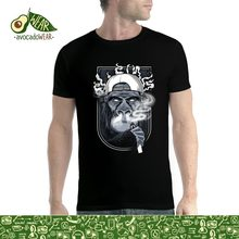 Men'S T-Shirts Summer Style Fashion Swag Monkey Cigarette Vaping Smoke Mens T-shirt Shirts for Men(China)