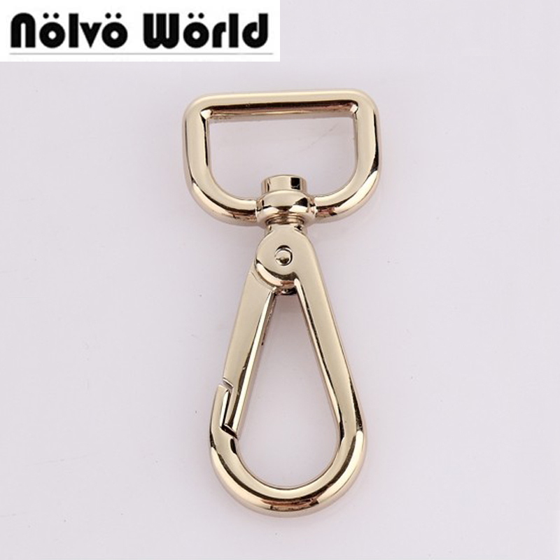 50pcs 5 Colors 20X60mm 3/4 Inch Light Gold Trigger Snap Hook Swivel Clasp For Bags Handbags Purse