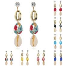 sea shell earrings for women Metal Shell  summer beach jewelry