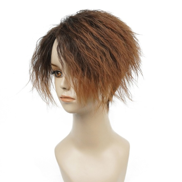 Strongbeauty Women S Short Straight Ombre Angled Bob Haircut Wig