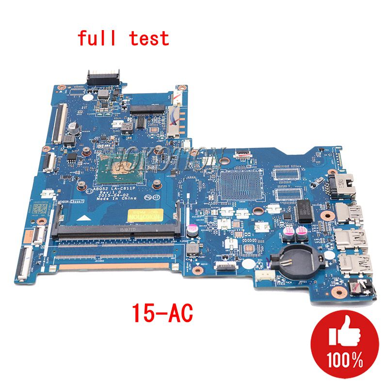 NOKOTION Laptop Motherboard For HP Pavilion 15-AC 816812-501 816812-001 ABQ52 LA-C811P DDR3 With Processor Onboard