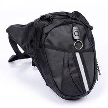 2 шт. дополнительно нейлон полиэстер Черный падения ноги мотоцикл велосипед поясная сумка