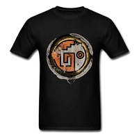 Vintage Circle Logo T Shirt Short Sleeve Custom T Shirts New Group 3XL Cotton Flying Birds