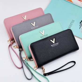 New Ladies Purses Female Leather Wallets Women Long Zipper Purse Woman Wallet Card Holder Clutch femme High Quality Brand