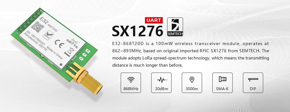 E32-868T20D LORA-SX1276 Wireless Transceivers (2)