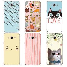 Rabbit Soft Clear TPU Phone Case For Samsung J3 J5 J7 S6 S7 S8 note8 A3 A5 C7 J2prime Cat Fox Printed Cute Cover Free Shipping(China)