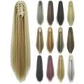 Soowee прямые длинные удлинители волос на клипсе блонд черный маленький конский хвост высокотемпературные волосы синтетические волосы когти ...