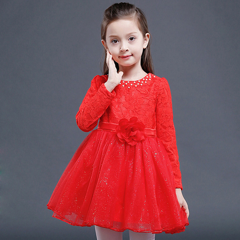 2017 New Summer Spring Girls Dress Party and Wedding Princess Costume Kids Dresses for Girls Cute Flowers Vestido Menina XL127 kids girls dresses for party and wedding 2016 summer lace flowers princess dress for girls clothes vestido pink yellow green