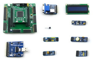 XILINX FPGA Development Board Xilinx Spartan -3E XC3S250E with DVK600+ Core3S250E+10 Accessory Kits = Open3S250E Package A xilinx fpga development board xilinx spartan 3e xc3s250e evaluation kit xc3s250e core kit open3s250e standard from waveshare