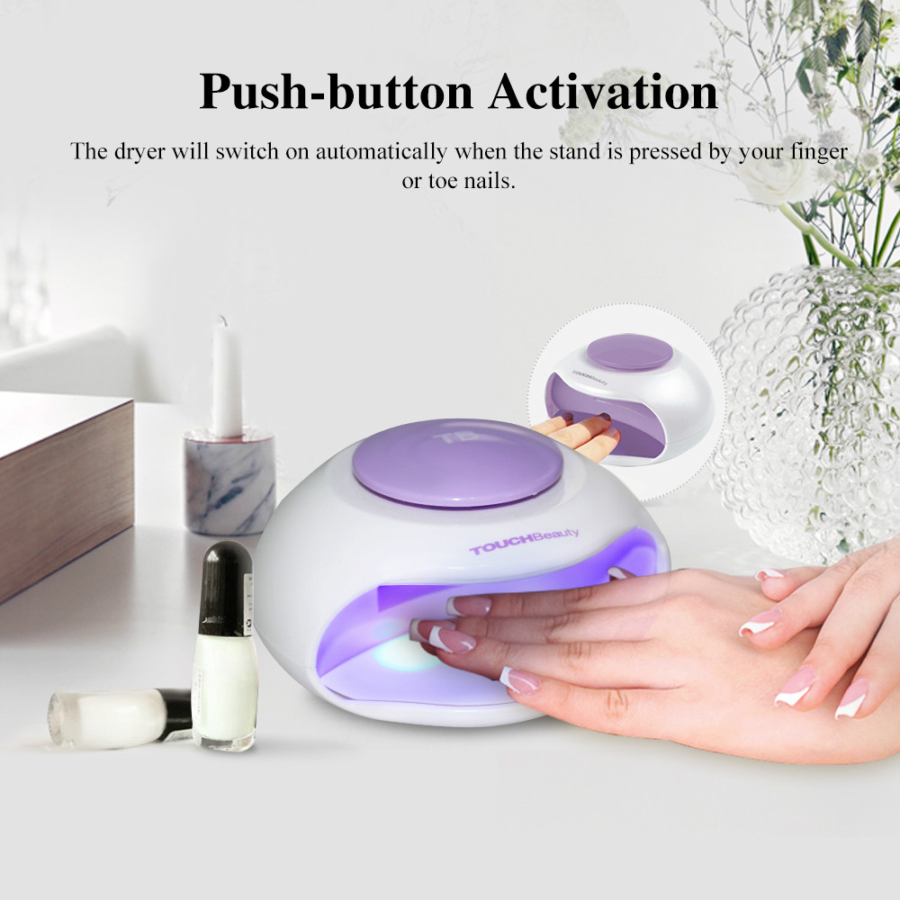 TOUCHBeauty TB-0889 Portable Nail Dryer with Air and LED Light Good for Regular Nail Polish повседневный лак konad regular nail polish konad psyche green