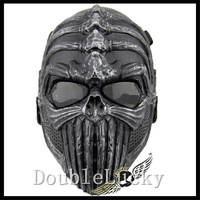 2016 Halloween Party Cosplay CS Game Airsoft Game Mask Scary Full Face Zombie Mask Plastic Paintball Undead CS Mask in stock