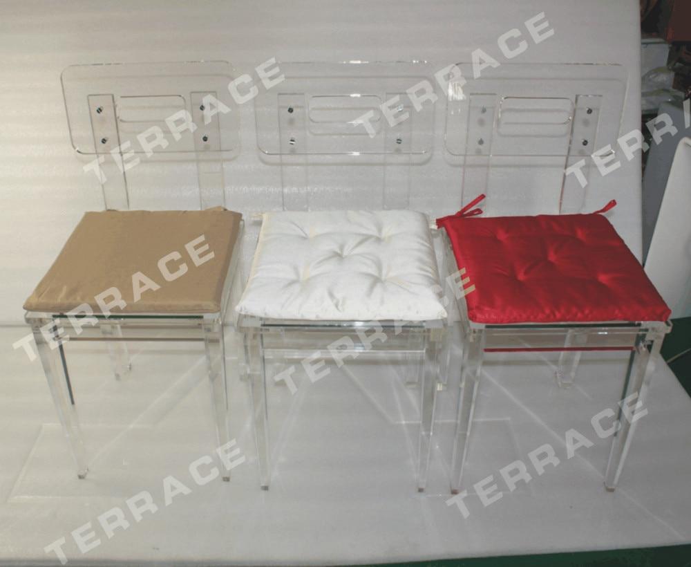(2 Pieces/lot) Clear Plexiglass Acrylic Dining Chair (Item No.5011311301)