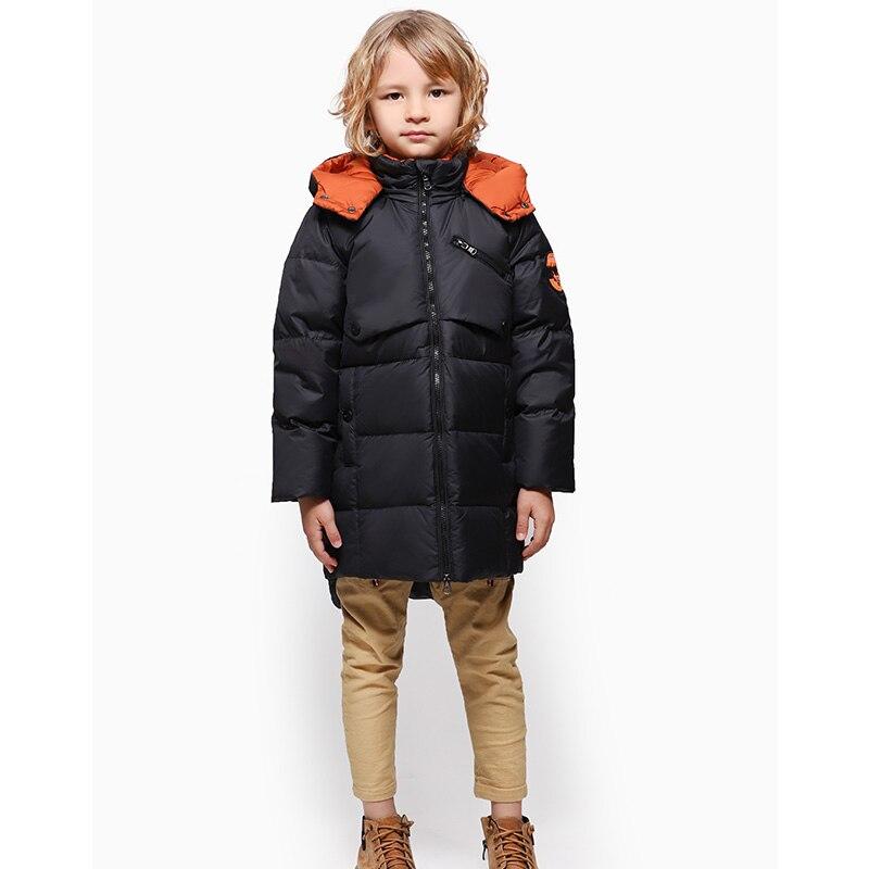 Bilemi 2019 nouveau 18M à 4T enfants à capuche longue section fermeture à glissière garder au chaud coupe-vent snowsuit garçon doudoune hiver
