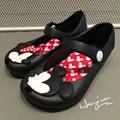De dibujos animados de Mickey y Minnie MINIKHOO Niñas Sandalias de Verano PVC Jalea Zapatos de la Muchacha Del Niño Sandalias de Playa Sandalias de Los Niños A Prueba de agua