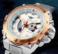 AMST cuarzo Hombre Reloj Militar Reloj de pulsera de Acero Inoxidable 2016 Nuevo Regalo De Moda Hombre Relojes Deportivos de Lujo reloj resistente al agua
