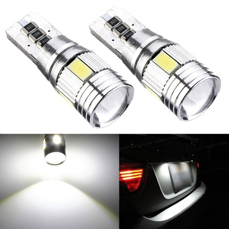 2.5W T10 501 194 168 W5W 6 LED 5630 SMD Canbus ERROR FREE Pure White Car Auto Side Wedge Lights Lamp Bulb DC12V 30LM 10pcs t10 501 wy5w w5w 6 led 5630 smd canbus error free pure white car auto side wedge parking lights lamp bulb dc 12v