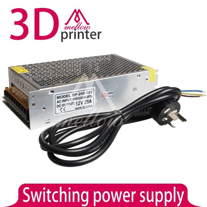 Impresora 3D cama caliente 240 W fuente de alimentación fuente de alimentación c