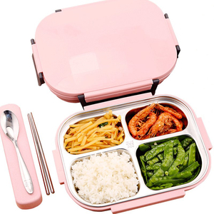 ONEUP Stainless Steel Lunch Box Eco-Friendly Bento Box With Bags and tableware Thermal Food Storage Container Adult Students