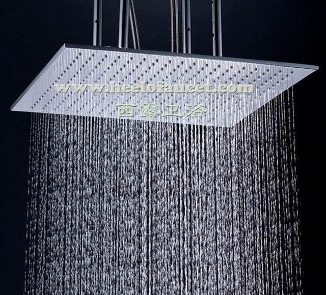20 Large Shower Rose Square Retractable Copper Bathroom Rain Head Br Water Saving Showerhead