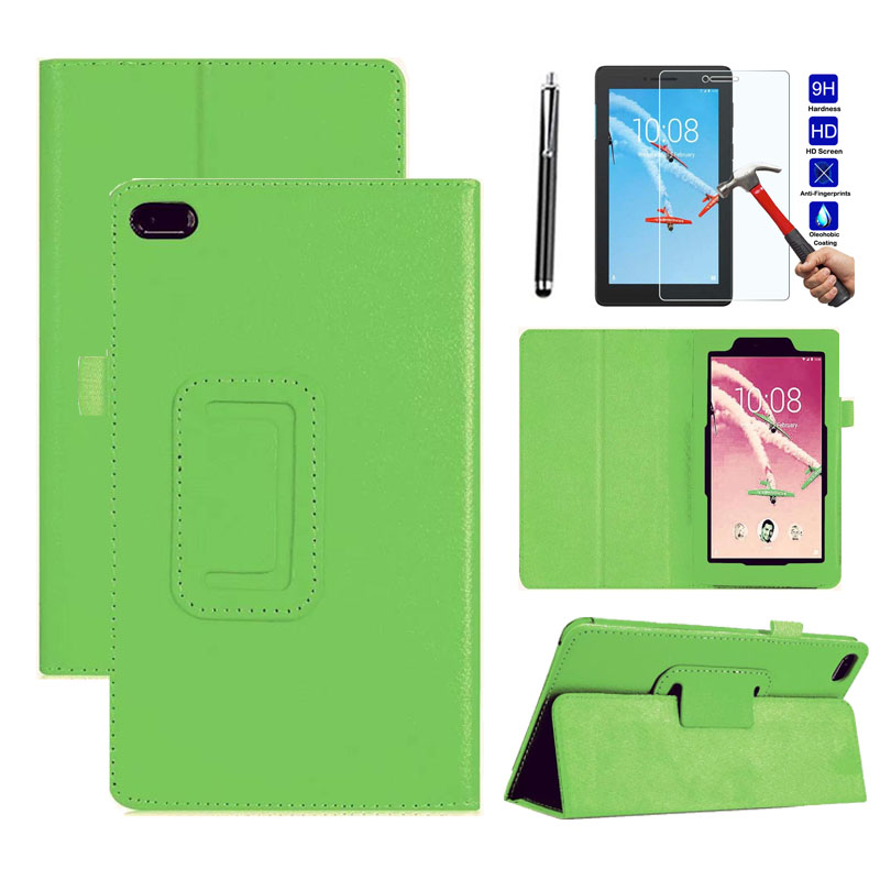 XSKEMP Ultra Thin Litchi Stand Leather Protector Case Skin Cover For <font><b>Lenovo</b></font> Tab E8 / Tab 8 <font><b>TB</b></font>-8304F <font><b>TB</b></font>-<font><b>8304F1</b></font> 8.0 + Screen Film image