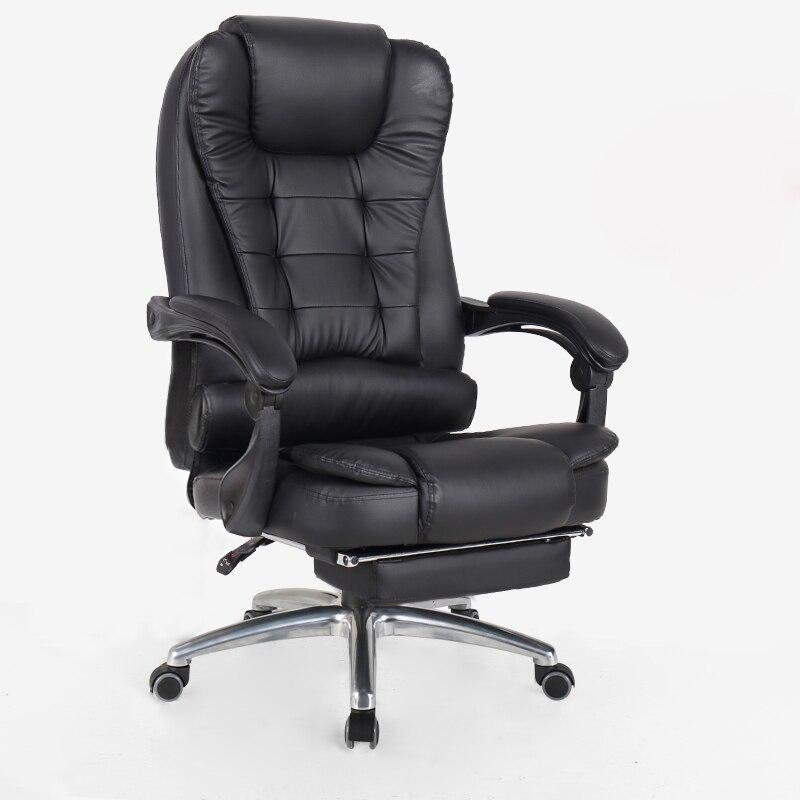 Computer di casa ufficio reclinabile massaggio capo ascensore turn resto del piede sedia sedile swive offerta speciale Inviare Russia per il trasporto