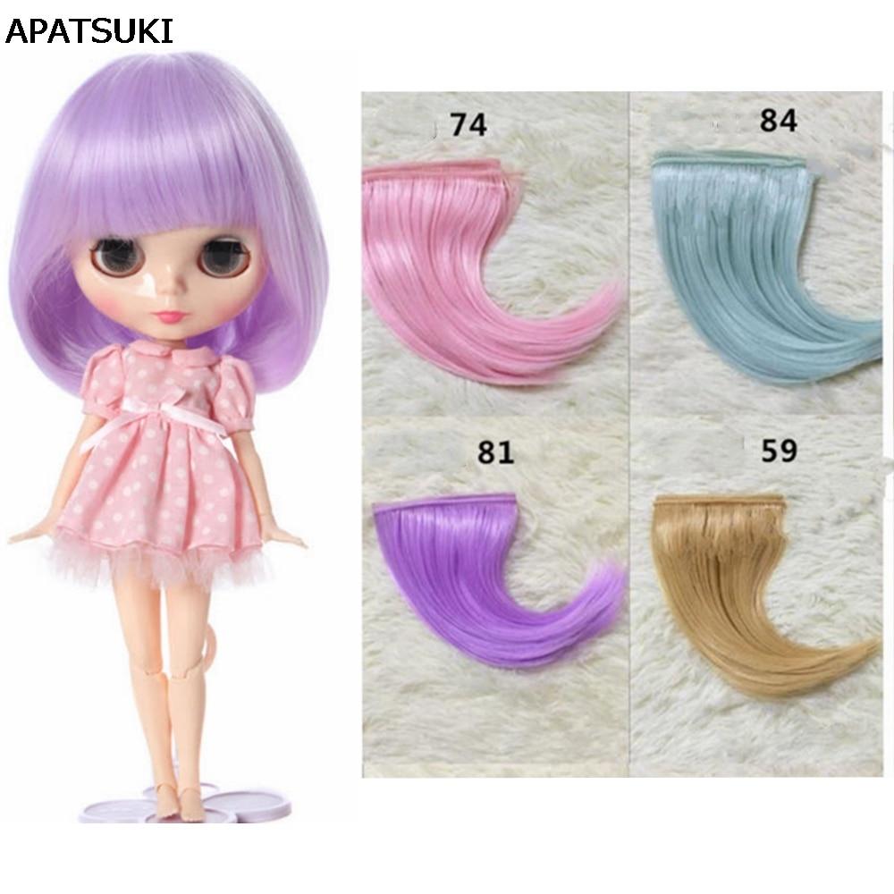 Curly Hair Doll Hair for BJD Blythe Doll/'s Wig Handcraft DIY Doll Wig Purple