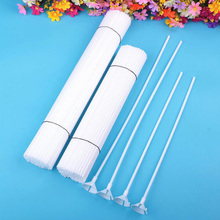 10Pcs/lot White Plastic Rods Balloon Sticks Holders with Cups for Wedding Birthday Decoration Festival Party Ballon Accessories