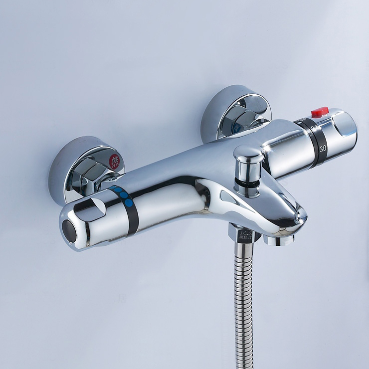 Free shipping Thermostatic Shower Faucet Mixer Water Tap Dual Handle thermostatic mixing valve torneira de parede TV003 dual handle thermostatic faucet mixer tap copper shower faucet thermostatic mixing valve bathroom wall mounted shower faucets
