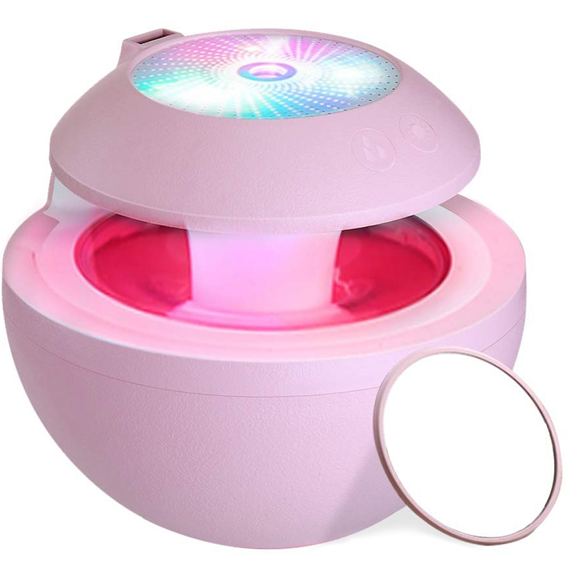 Portable Usb Humidifier,Mini Fan,Led Projection,Abs Mirror,4 In 1 Personal Room Humidifiers,500Ml Cool Mist Humidifiers With Fan thumbnail