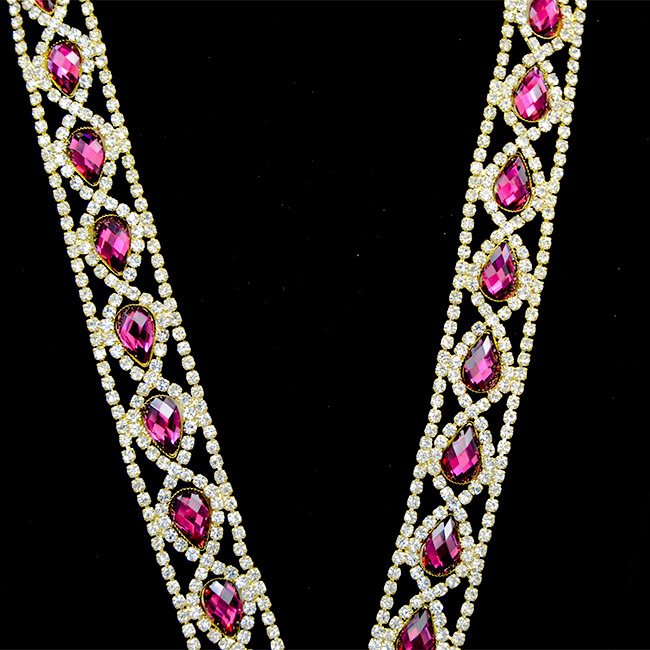 10Yards Diamante Rhinestone Crystal Silver Gold Clear Chain Sewing Craft Silver Trimming