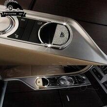 Автомобильные аксессуары Diamond электронного стояночного тормоза отделкой для Jaguar XJ XJL XF автомобиля электронный стояночный ручка кнопка ручной тормоз стикер
