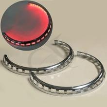 Brake Rotor Covers Ring of Fire Red For Honda Goldwing GL1800 2001-2014 02 03 04 02 04 honda vtx1800c show chrome neck covers