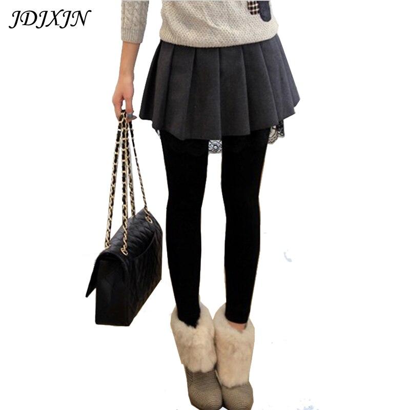 2016 otoño y el invierno femenina Falda corta de lana del busto Falda  plisada cintura alta del todo-fósforo básico faldas JX076 ba6c11269334