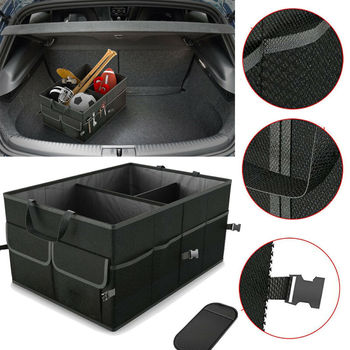 Car Storage Collapse Bin Bag Eco-Friendly Super Strong Collapsible Cargo Storage Box Sundries Organizer For Auto SUV Trunk Box image