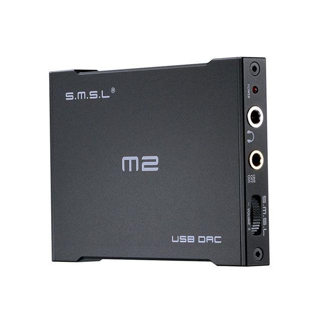 Высокое Качество SMSL M2 Portable Усилитель Для Наушников Внешний ЦАП Декодер Звуковая Карта Алюминиевый Корпус Усилителя Волокна и Аналоговый Выход
