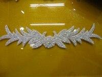 Free Shipping 2014 New Wholesale Bridal Beaded Trims Bling Bling Decorative Rhinestone Beaded Trim For Wedding