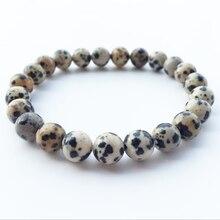 Mala Fashion Bracelets Buddhist Jewelry Healing Natural Stone Powder Beads Spiritual Energy Bracelet Lava Spot Accessories
