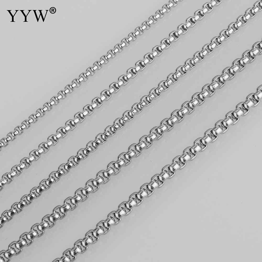 Коробка из нержавеющей стали цепи ожерелье для мужчин женщин 2/2. 5/3/3,5/4 мм звено цепи Diy ювелирных изделий делая аксессуары оптом