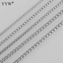 Stainless Steel Box Chain Necklace For Men Women 2/2.5/3/3.5/4mm Link Chains Diy Jewelry Findings Making Accessories Wholesale(China)