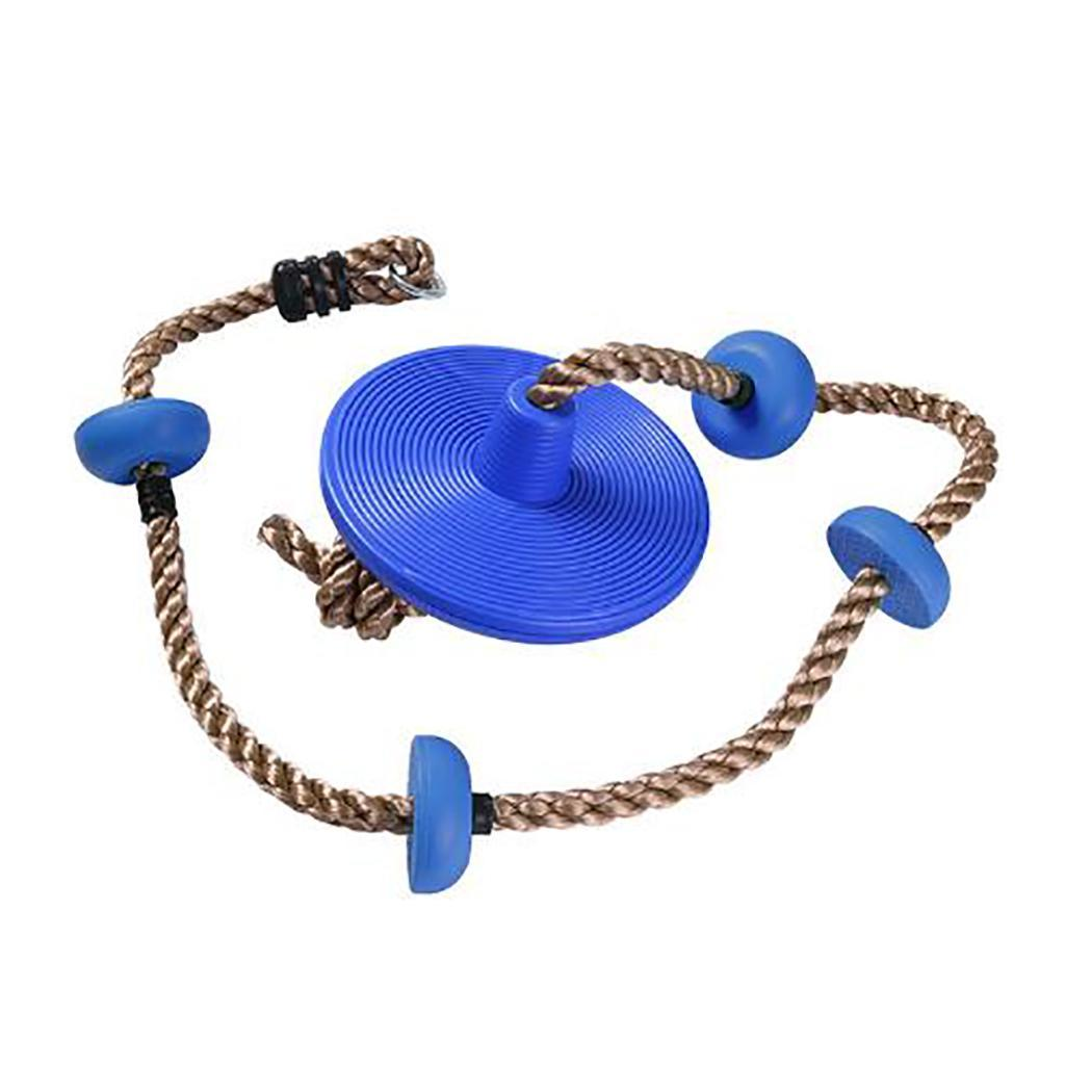Funny Kids Climbing Rope Children Swing Rope Disk Garden Outdoor Playground Swing Games Equipment Games Toys