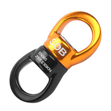 30KN Rock Climbing Aluminum Alloy Rotator Swivel Connector Hanging Accessory for Outdoor Rescue Access
