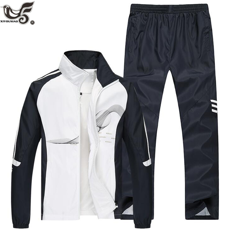 Brand Tracksuit Men Two Piece Clothing Sets Casual Jacket+Pants Outwear Sportsuit Spring Autumn Sportswear Sweatsuits Man