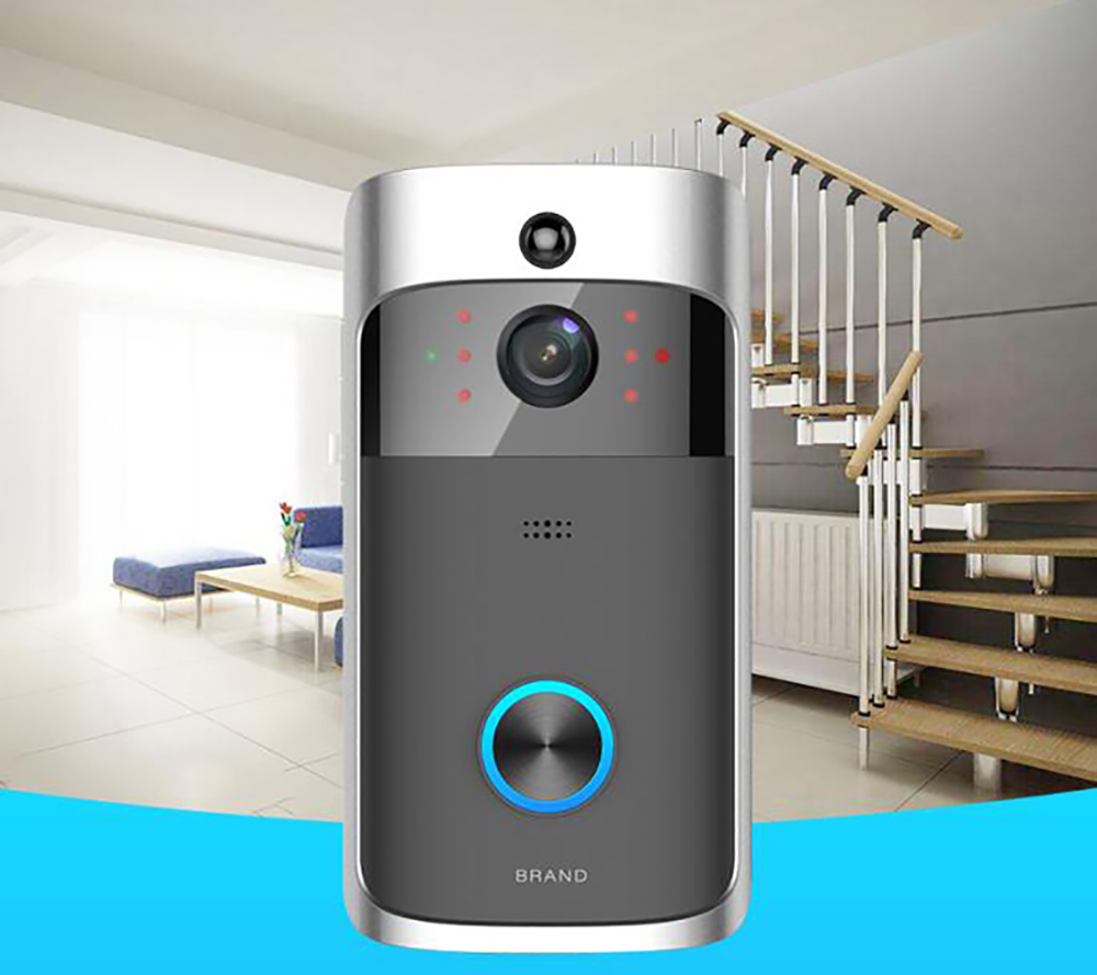 RC Video Doorbell, WiFi Smart Wireless Doorbell 720P HD Security Home Camera Real-Time Video and Two-Way Talk, Night Vision