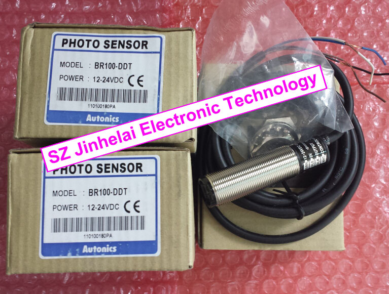 100% New and original  BR100-DDT, BR100-DDT-P  AUTONICS   Photoelectric sensor  12-24VDC