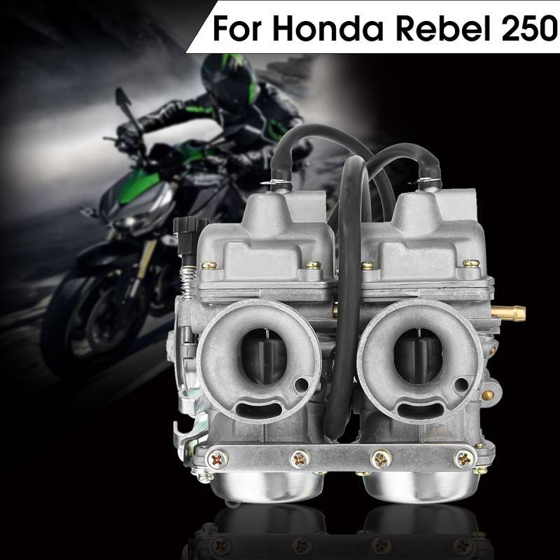 Twin Carburetor Dual Carb Chamber Assy Fuel Filter for Honda Rebel CA CMX 250 C CMX250 CA250 duplex twin cylinders rebel motorcycle carburetor assy set for mikuni chamber carb set cmx 250 cbt250 ca250 dd250 300cc