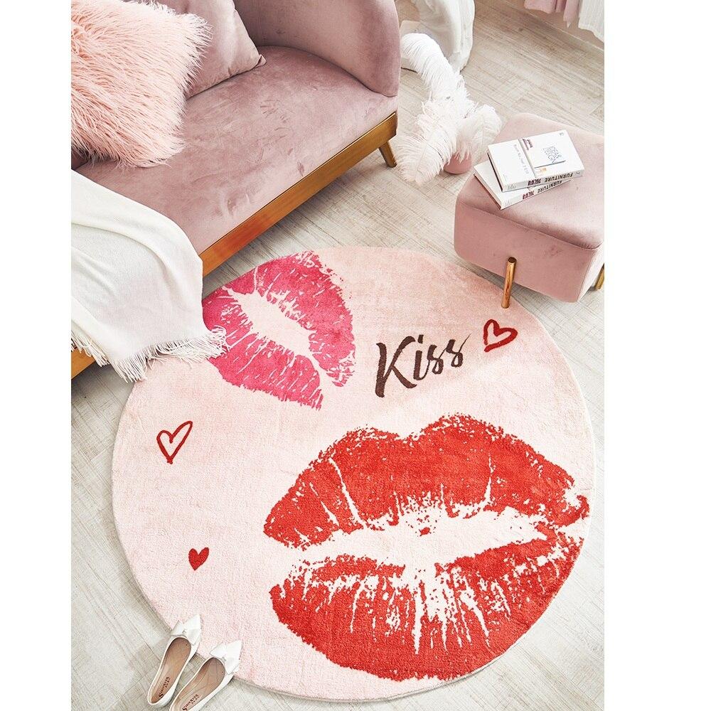 Mode tapis rond chambre ins chambre salon table basse tapis de chevet tapis anti dérapant tapis fort absorbant - 4