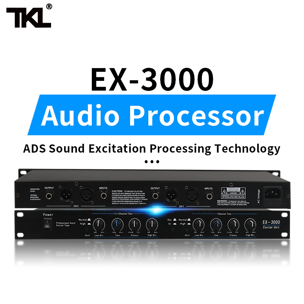 TKL 2 Channels Sound Audio Exciter Processor Speaker Management Pro Audio Processor Protea Pro Stage Audio Equipment